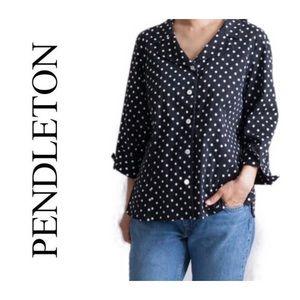 Pendleton lightweight polka dot blazer size M